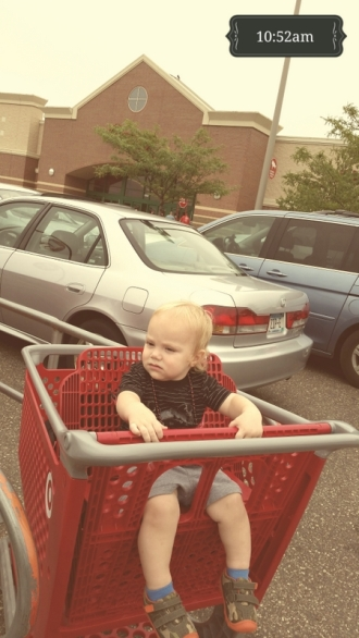 The cart ride starts like this...
