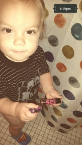 He thinks Baby Lips are for him...