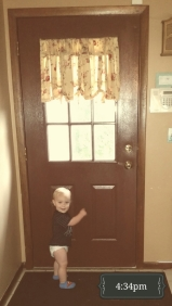 Before he gets back to the plunger, it's time to head outside. (At least that's what he says :) )