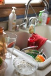 Every morning...the dishes start piling up.