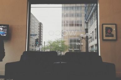 Waiting at the studio.