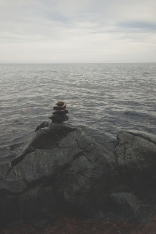 Rocks on the shores of Lake Superior.