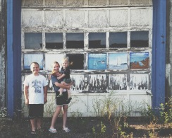 A great place for a photo in downtown, Grand Marais.