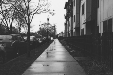 Leaving a Minneapolis session on a rainy, November, day.