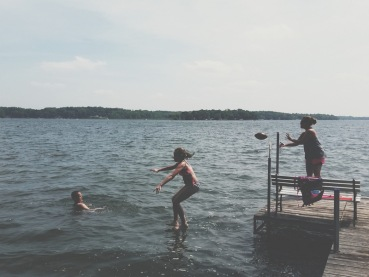 Football and swimming...another weekend at the lake.