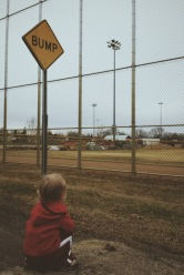 Everyday, after walking the big kid to the bus, we would go to watch the construction vehicles at the neighborhood park.