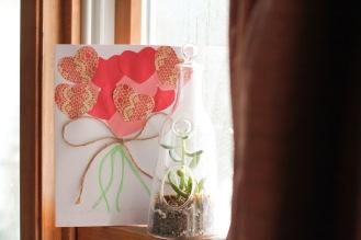 Valentine Heart Bouquet-Card