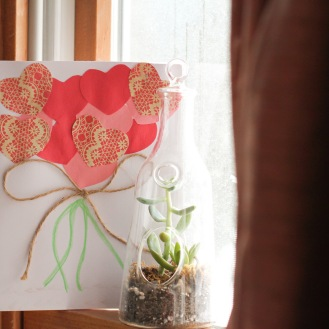 Valentine Heart Bouquet-Card