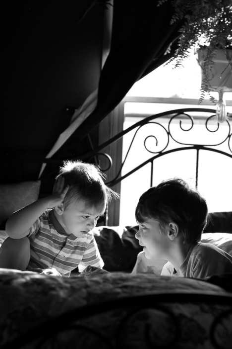 Morning meeting in my bed.